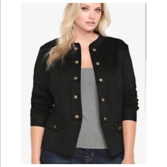 fd7f5b9112a58 💥HP💥⬇️Black military button jacket